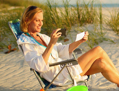 Mobile Banking on the Beach